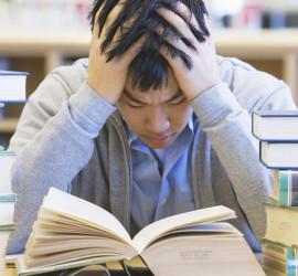 Stressed Freshman Student